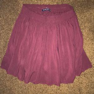 Brandy Melville burgundy skirt